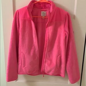 Pink furry girls jacket